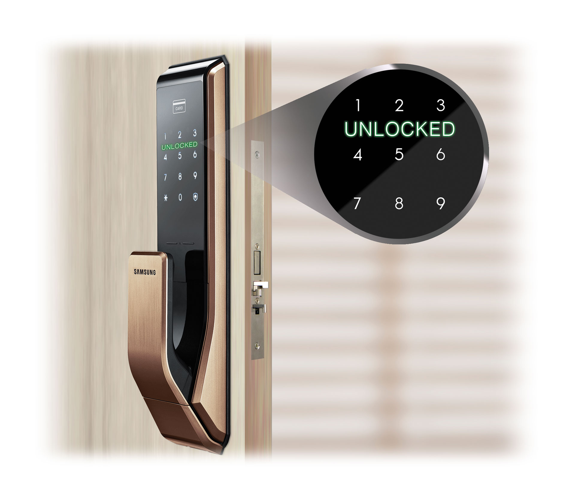 User-friendly interface. The door lock automatically ...