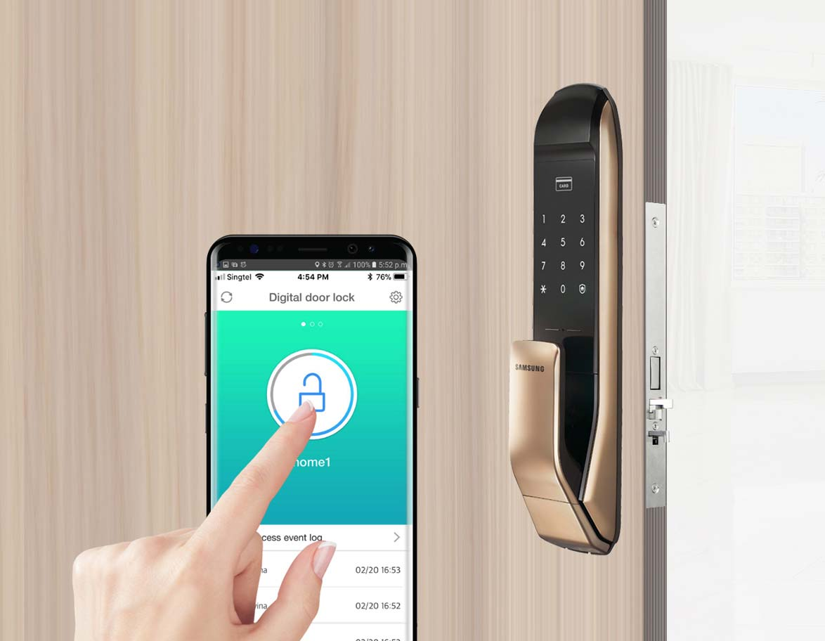 home security door locks. Contemporary Security Introducing The Worldu0027s First PUSH PULL Door Lock Concept Making Your Life  That Much Easier And Home Security Door Locks